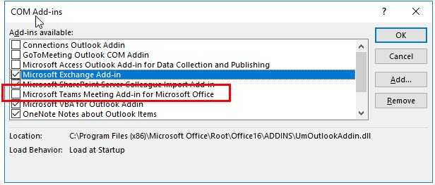 Outlook Client - Application is busy log entry