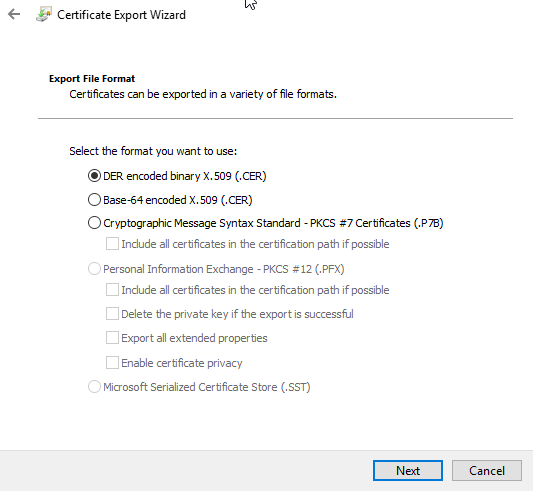 How To Export Your Self-signed Appliance SSL Certificate