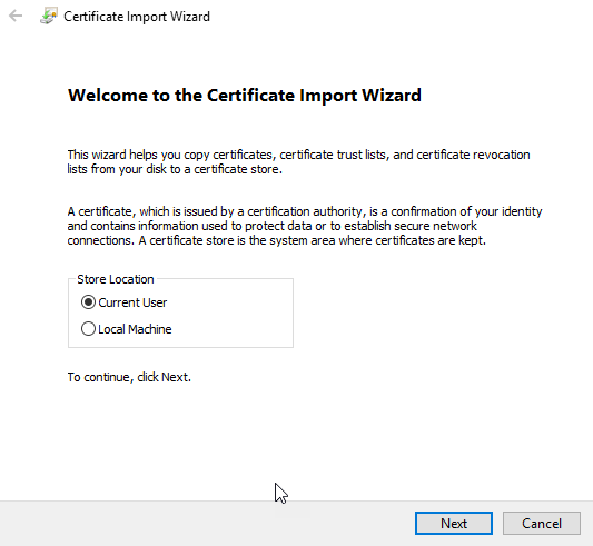 How to export your self-signed appliance SSL certificate to use with